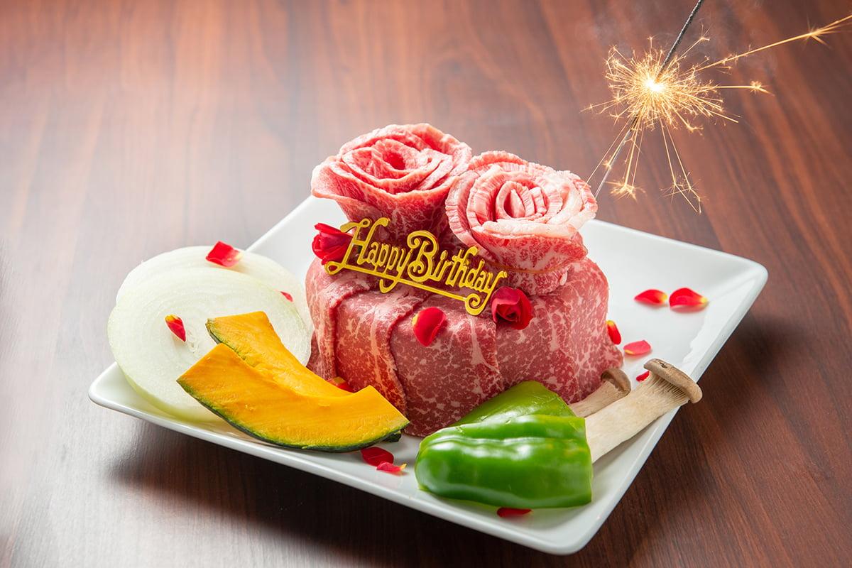 焼肉武田や肉ケーキ